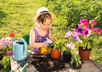 Atelier jardinage-enfant